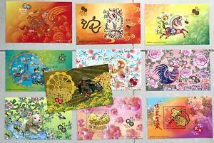 China Hong Kong 2012 ~ 2020 2021 牛年 Specimen 樣張 New Year Dragon ~ Ox Stamp S/S