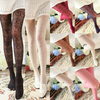 Women's Lolita Girl Lace Jacquard Hollow Patterned Pantyhose Tights Stocking New