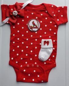 Stl Cardinals newborn/baby clothes girl STL Cardinals baseball girl