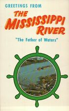 PLEASE READ !!! Greetings from The Mississippi River - Standard Chrome Postcard