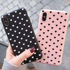 For Samsung Galaxy Huawei Case Heart Cute Silicone Cover TPU coque Fundas