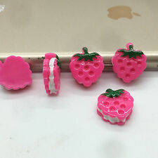 10pcs pink Strawberry embellishment Resin Flatback ScrapbookIng for phone/craft