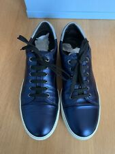 LANVIN Low Top Lambskin Sneakers SIZE 10 With Box (Read Description) RRP £370