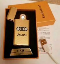 Electric Gold Rechargeable Flameless USB Cigarette Lighter With Gift Box an cabl