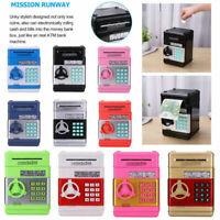 Automatic Password Safe Box Money ATM Piggy Bank Mini Safe Cash Coin Kids Gift
