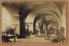 Carte Photo vintage card RPPC salon restaurant bar voutes vasques kh0137
