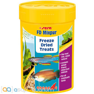 sera FD Mixpur Freeze Dried Treats 100mL Variety Fish Food Daphnia Tubifex Krill