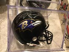 Paul Kruger Autographed Ravens Mini helmet In Plastic Case