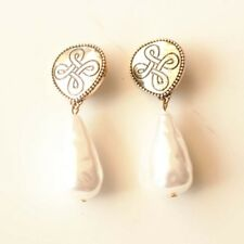 New Chicos Faux Pearl Clip on Earrings Gift Fashion Women Party Holiday Jewelry