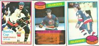 1980-81 Topps Hockey Mike Bossy New York Islanders Lot X 3 #25 #204 #262