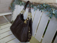 Coach Mia Pleated Maggie Madison Brown Leather Bag $358
