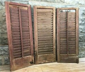 Vintage Shutters Wall Decor, Farmhouse Shutter Doors, Architectural Salvage a64,