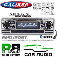 Classic Retro Look Bluetooth CD MP3 USB SD AUX Car Stereo Radio SILVER RMD120BT