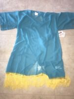 Lularoe ~ NWT Women's Monroe Turquoise Blue Top Fringe Cover Up Kimono Wrap ~ S
