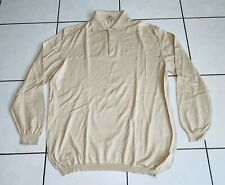 Ermenegildo Zegna suéter talla XXXL sudadera señores beige Polo Shirt suéter