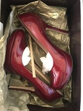 Joan And David Red Patent Pumps Size 5.5