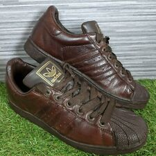 2005 Adidas Superstar II Brown Leather Trainers UK Size 9 EUR 43.5 *PLEASE READ*
