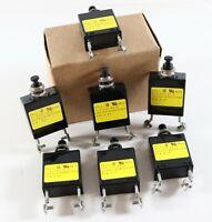 New LOT of 7 AIRPAX PP11-3-5.00A-XX 250V 50/60Hz 50 VDC T/A 6.75 Circuit Breaker