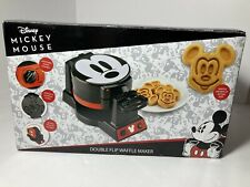 New listing Disney Mickey Mouse 90th Anniversary Double Flip Waffle Mini Maker Limited Rare