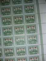 1920🔹️DENMARK Stamp Sheet of 5x10 Mounted Mint Hinged🔹️NO PERFORATIONS