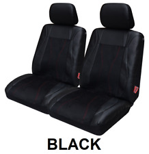 PAIR LEATHER & SUEDE LOOK SEAT COVERS FOR TOYOTA TARAGO III FWD MPV