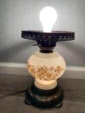 Vintage EF&EF Industries Hurricane Style Globe 3 Way Table Lamp Missing Globe