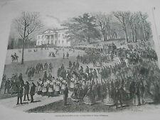 Gravure 1866 - Funérailles de la Reine Marie Amélie