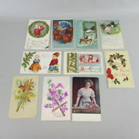 VTG Mixed Lot of 10 Holidays & Greetings Postcards early 1900s Iowa SET 12