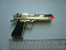 DESERT EAGLE PISTOL,  DISPLAY MODEL SCALE 1/2.5, SILVER COLOR