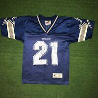 Vintage Logo Athletic NFL Dallas Cowboys Deion Sanders Jersey #21 Kids Size - S