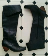 $377 JOHN FLUEVOG RUBY CREEK CUFF BOOTS 10 in DARK BROWN LEATHER