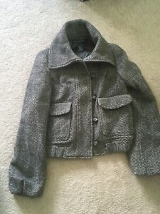 French Connection 2 Small Tweed Blazer Jacket Wool Blend Coat NWOT Anthropologie