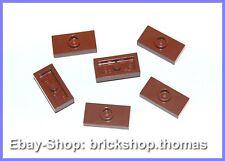 Lego 6 x Konverter Platten braun 3794 Plate 1 x 2 Jumper Reddish Brown NEU / NEW