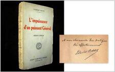 IMPUISSANCE d'un PUISSANT GENERAL Roman Chinois Charles PETTIT 1926 envoi rare !