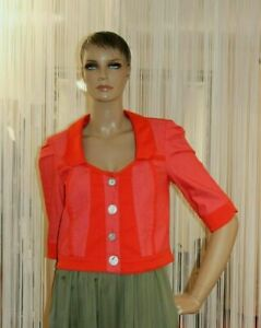Elisa Cavaletti NEU Gr.XL Jacke Rot Cuore Red Spitze EJP217045100