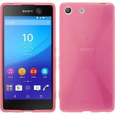 Coque en Silicone Sony Xperia M5 - X-Style rose chaud + films de protection