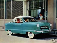 1954 Nash Metropolitan Coupe, Blue/White, Refrigerator Magnet