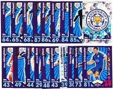 TOPPS MATCH ATTAX PL 2016-17  Complete Team Set - Leicester City - # 1-19 Cards