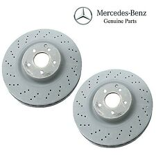 Mercedes R171 W203 W209 GENUINE Front Disc Brake Rotor Set Left + Right 345mm