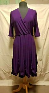 Stretch dress size 12 - Leona Edmiston purple aubergine