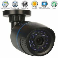 NEW CMOS 1000TVL Home Security CCTV Camera IR Night Vision Indoor 24x Blue LEDs