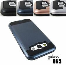 For Samsung Galaxy On5 G550 - Brushed Hybrid High Impact Armor Hard Case Cover