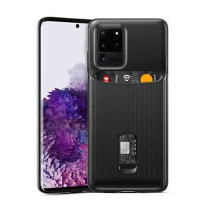 ESR Wallet Armor Card Holder Rear Case Cover for Samsung Galaxy S20 Ultra Black