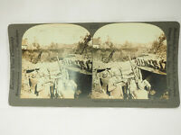 Antique Stereoview Card. Keystone. V18916 An Anti-Aircraft Gun Being Worked