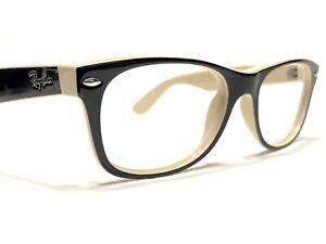 Ray Ban RB2132 New Wayfarer 875 Unisex Black & Tan Sunglasses Frames 52/18~145