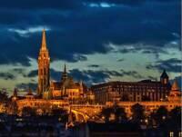 PHOTOGRAPH CITYSCAPE LANDMARK MATTHIAS CHURCH BUDAPEST POSTER ART PRINT BB12617B