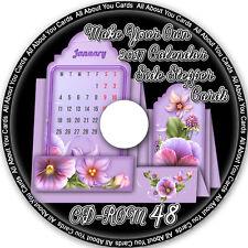 Prepara il tuo CALENDARIO 2017 schede Stepper laterale CD-ROM 48