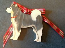 Alaskan Malamute X-mas ornament by Dandy Design, painted, wooden