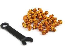 Wellgo Aluminum Alloy M4 Bike Bicycle Cycling Pedals Replacement Pins - Gold