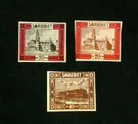 Saar Stamps Set of 3 Rare Early Color Proofs
